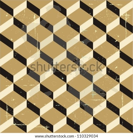 3d seamless pattern - stock vector