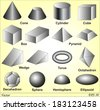 3D Shapes - stock vector