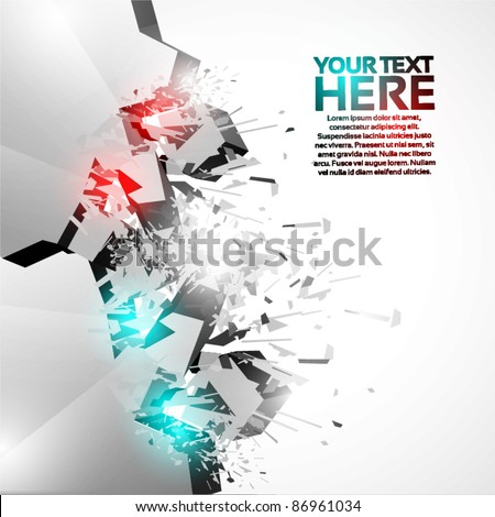 3D Shiny Explosion Background - stock vector