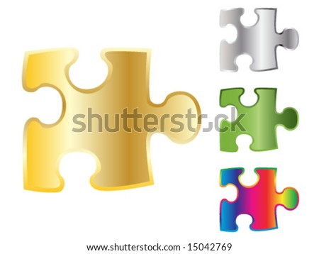 3d shiny puzzle piece