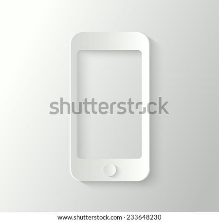 3d smartphone - stock vector