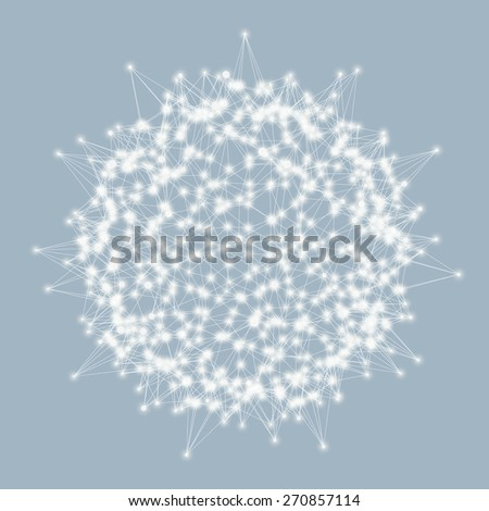 3d sphere. Technology concept. Vector illustration. Can be used for banner, flyer, book cover, poster.  - stock vector