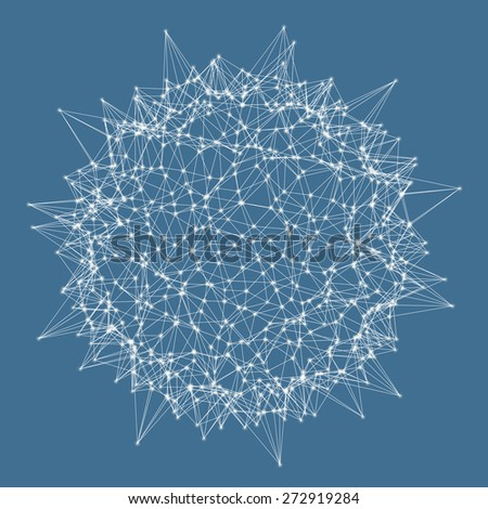 3d sphere. Technology concept. Vector illustration. Can be used for banner, flyer, book cover, poster.