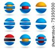 3d sphere vector icons set. - stock photo