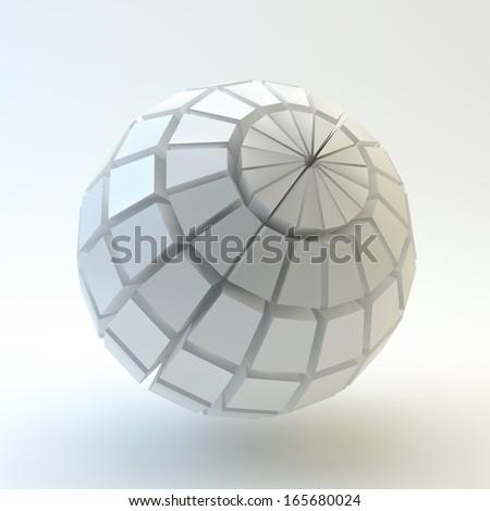 3D Sphere. Vector illustration. - stock vector