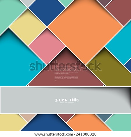 3d square design template - stock vector
