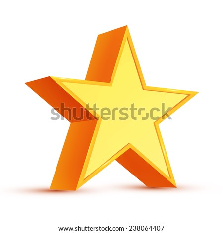 3D star. Vector illustration.