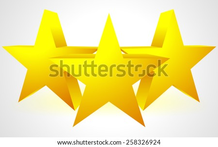 3D Stars Composition - stock vector