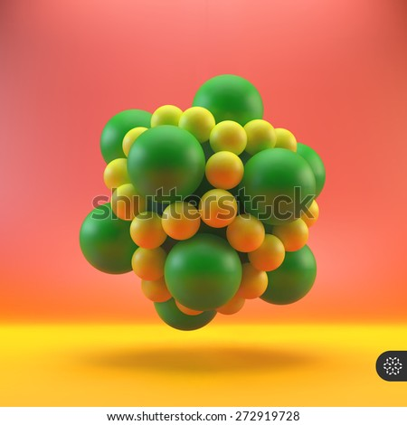 3D structure vector Illustration. Graphic design. Can be used for presentations, web design. - stock vector