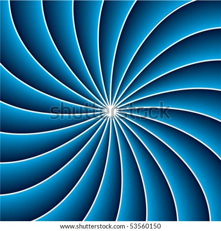 3d swirl in blue and white - stock vector
