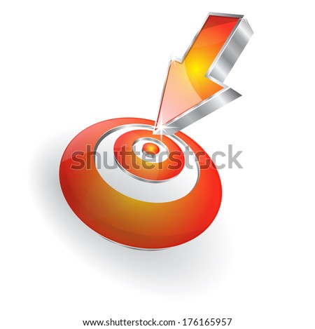 3d Target Arrow Vector Icon