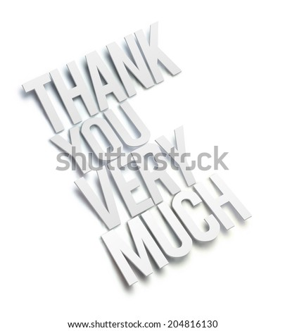 3D Thank You Very Much. Vector illustration. - stock vector