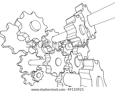 Car Transmission Vector 3d Transmission Stock Vector