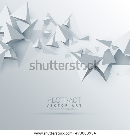 3d triangles abstract background
