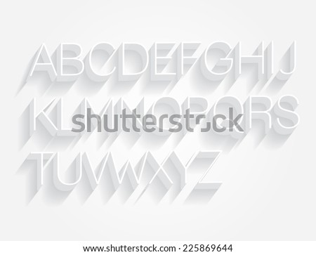 3d typography/font vector/illustration - stock vector