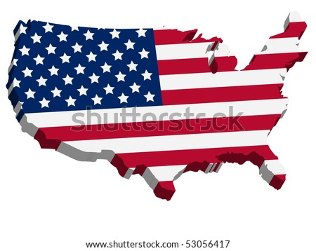 Us Flag Map Stock Images RoyaltyFree Images Vectors Shutterstock - Us map with glag