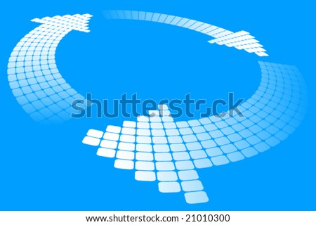 3d vector arrow composition - stock vector