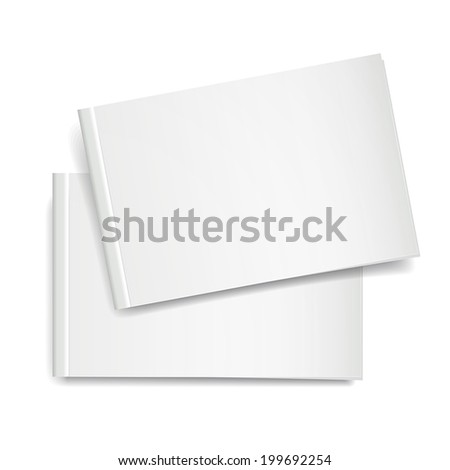 3d vector blank book cover on white background - stock vector