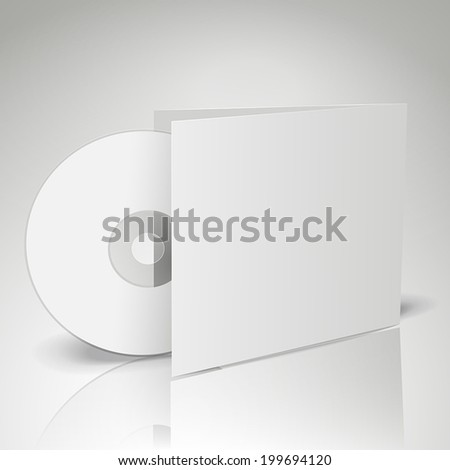 3d vector blank compact disk with gray background - stock vector