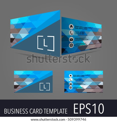 3 d vector business card template modern stock vector hd royalty 3d vector business card template modern simple luxury standard business card design with colourmoves