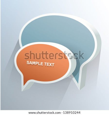 3d Vector chat bubbles with place for text - stock vector