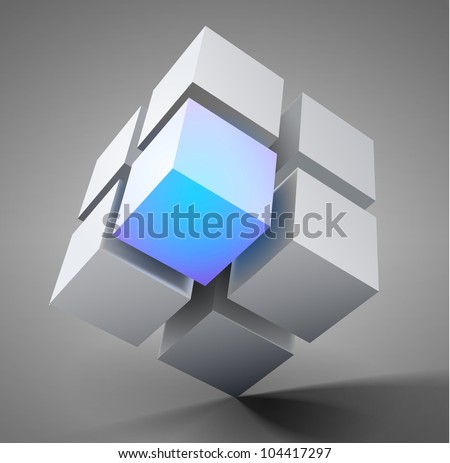 3D vector design element illustration