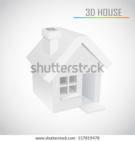 3d vector home - stock vector