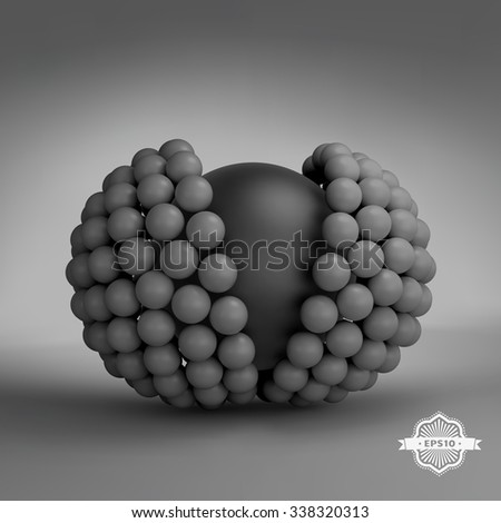 3d vector illustration. Concept for science, technology and network.