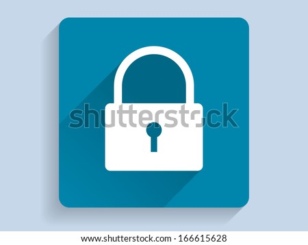 3d Vector illustration of a lock icon - stock vector