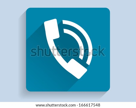 3d Vector illustration of a phone icon  - stock vector
