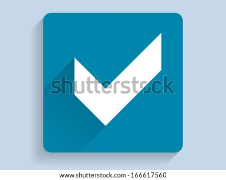 3d Vector illustration of check box icon  - stock vector