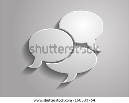 3d Vector illustration of communication icon - stock vector