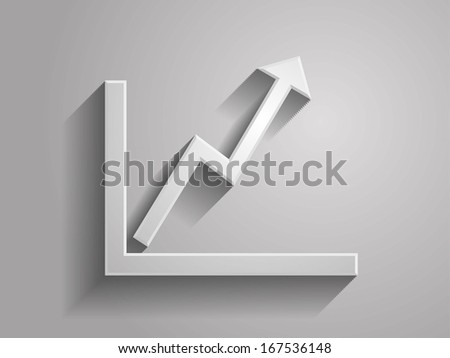 3d Vector illustration of graph icon - stock vector
