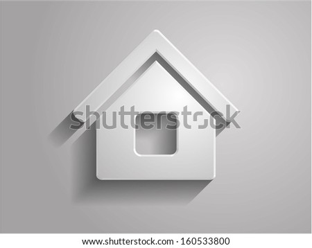 3d Vector illustration of house icon - stock vector