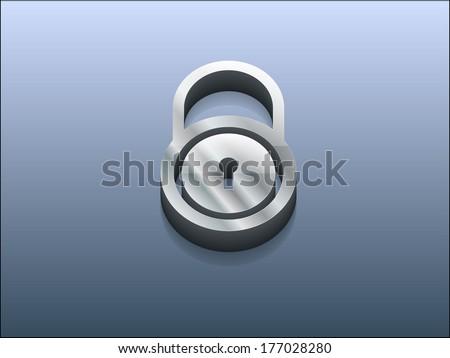 3d Vector illustration of lock icon - stock vector