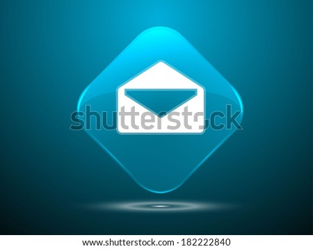 3d Vector illustration of mail icon