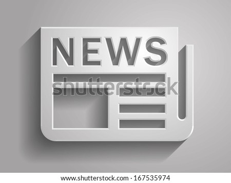 3d Vector illustration of news icon - stock vector