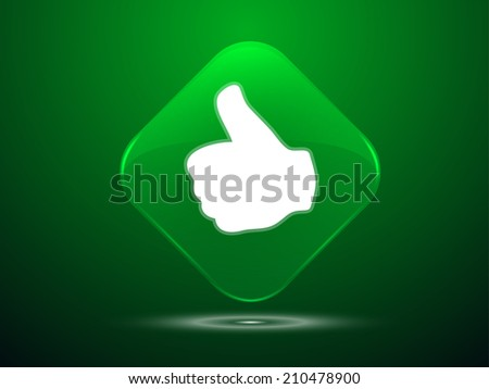 3d Vector illustration of ok icon  - stock vector