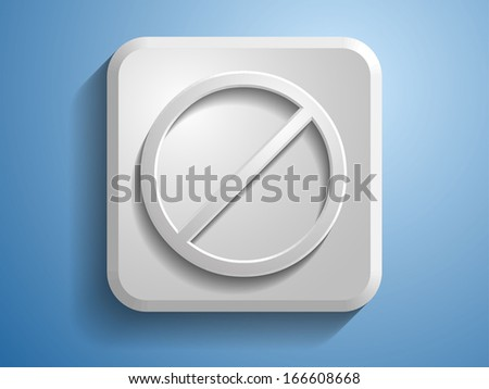 3d Vector illustration of prohibit icon  - stock vector