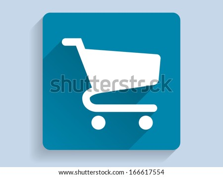 3d Vector illustration of shopping chart icon  - stock vector