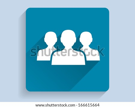 3d Vector illustration of  team icon - stock vector