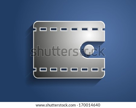 3d Vector illustration of wallet icon
