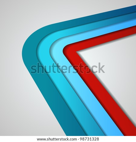 3D vector lines in retro style - stock vector