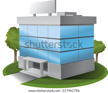 3 d vector office building illustration clipart stock vector 2018 rh shutterstock com office building clipart png office building clipart black and white
