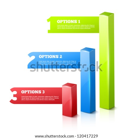 3D Vector Progress background / product choice or versions.