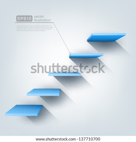 3d vector stairs - stock vector