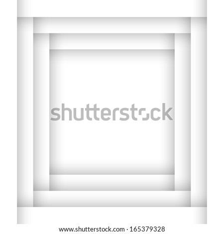 3d Vector White Background - stock vector