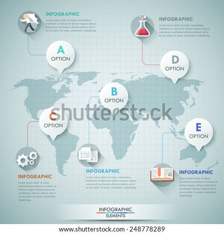 3 d vector world map illustration infographics stock vector 3d vector world map illustration and infographics design template can be used for workflow layout gumiabroncs Choice Image