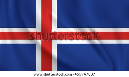 3D Waving Flag of Iceland