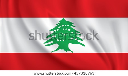 3D Waving Flag of Lebanon